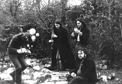 Adrian, John Peel, Sheila and Andy on holiday in Ireland