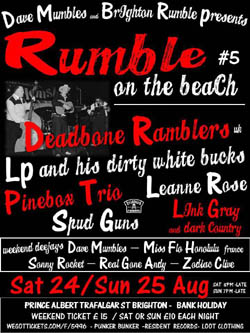 Rumble on the beach - Brighton 25th August
