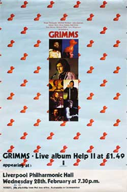 GRIMMS poster - WebWeaver was at this gig