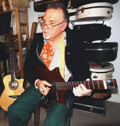 Andy playing the Martin Solidbody Prototype