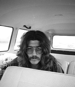 Bob in the bus again... photo Credit: Andy Roberts 1972
