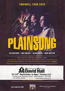 Plainsong's farewell tour poster