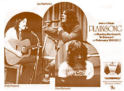 Plainsong advert from the Sounds music newspaper for the BBC's 'In Concert' programme in February 1973.   CLICK FOR LARGER IMAGE