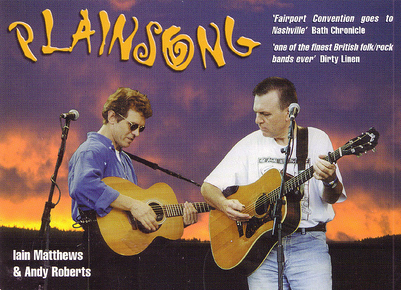 PLainsong as a duo in 2001