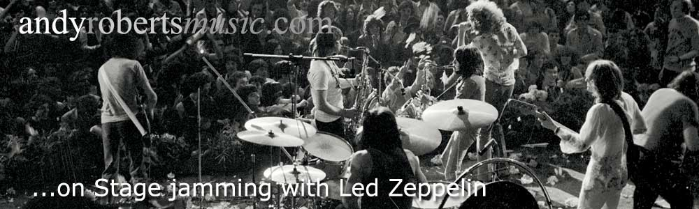 on stage at the Pop Proms in 1969 jamming with Led Zeppelin